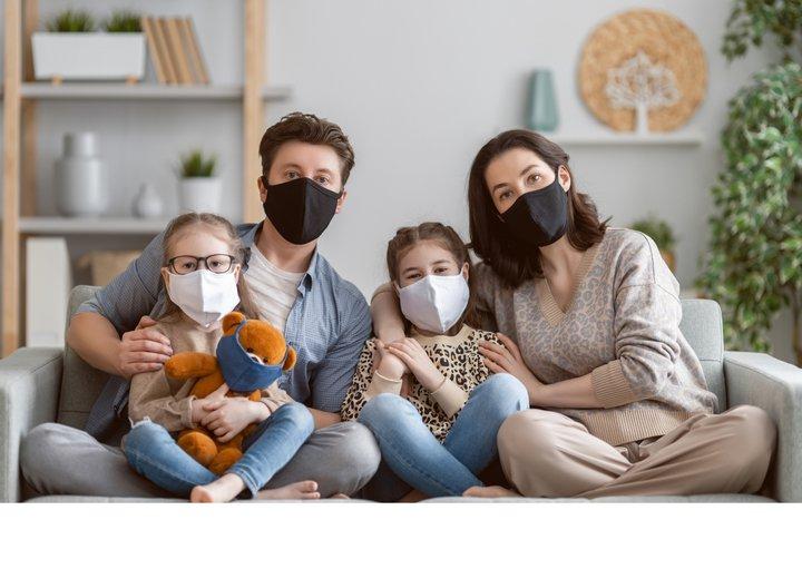 Familie Maske Corona