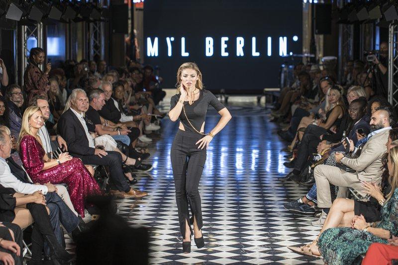 Model auf der Fashion Week Berlin