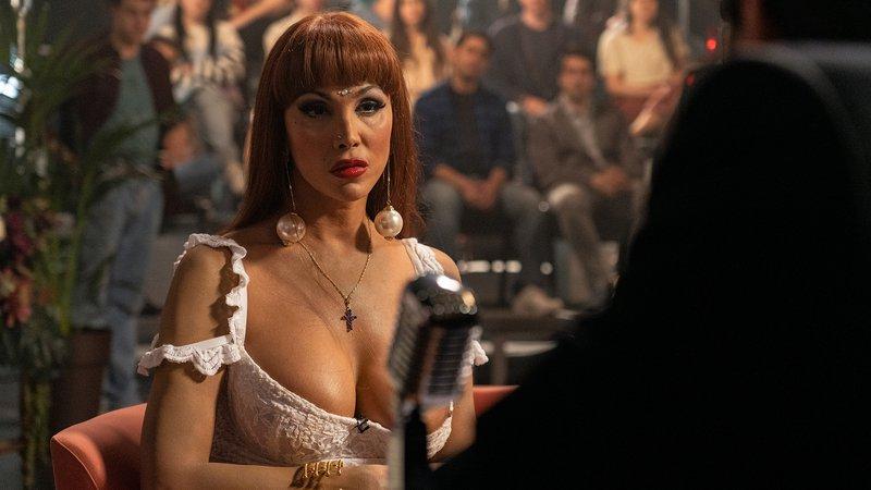 Cristina Ortiz in einer Fernsehshow